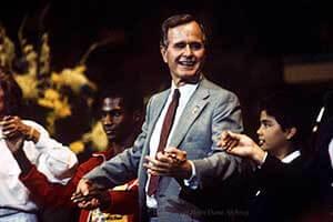 George Hw Bush Special Olympics