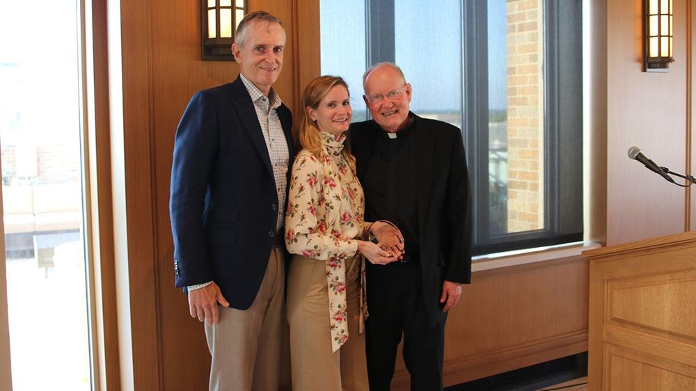 Jim Perry, Molly Perry, Fr. Tim Scully