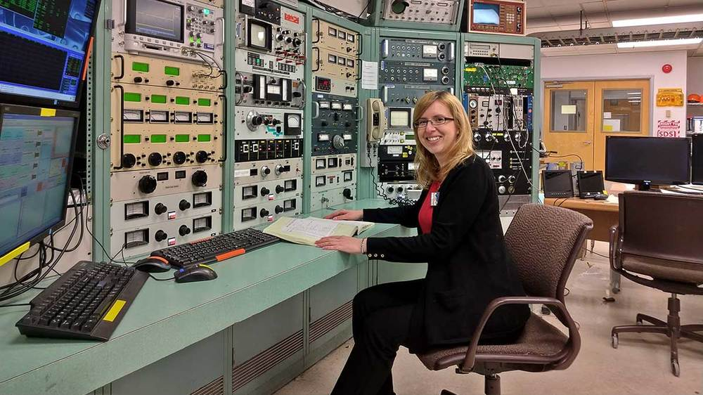 Anna Simon, assistant professor of experimental nuclear physic