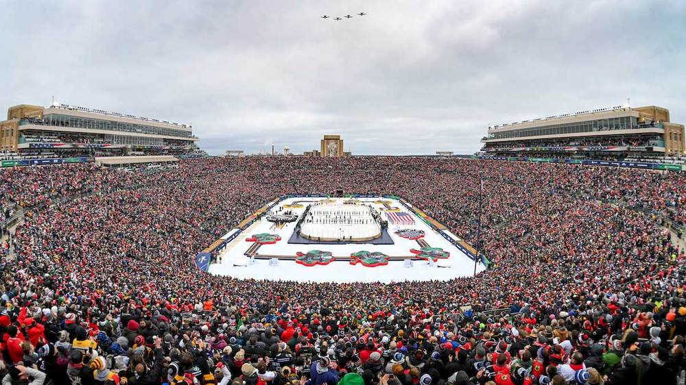 NHL Winter Classic. Photo by Matt Cashore/University of Notre Dame.