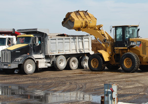 Fertilizer removed from methane digester