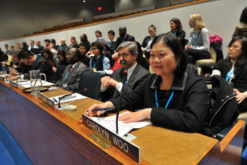 Carolyn Woo addresses United Nations