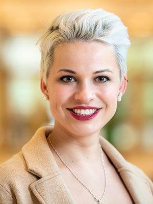 Sofia Carozza, 2019 Valedictorian. Photo by Barbara Johnston/University of Notre Dame.