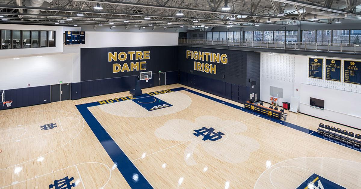 Jim Brown Basketball >> Notre Dame basketball practice facility dedicated | News