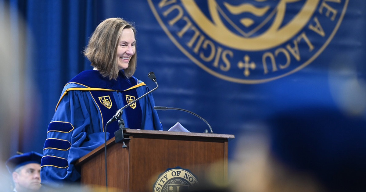 Notre Dame Graduate School >> Graduate School Degree Recipients Encouraged To Love What
