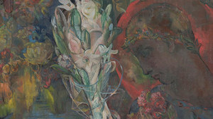 Mary Swanzy (1882–1978), Young Claudius (detail), 1942, oil on canvas, 20 x 24 inches. Gift of the Donald and Marilyn Keough Foundation, 2019.001.002