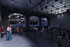 The Robinson Community Learning Center black box rendering