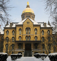 Snow on Golden Dome