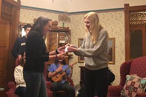 Elizabeth Boyle receives her