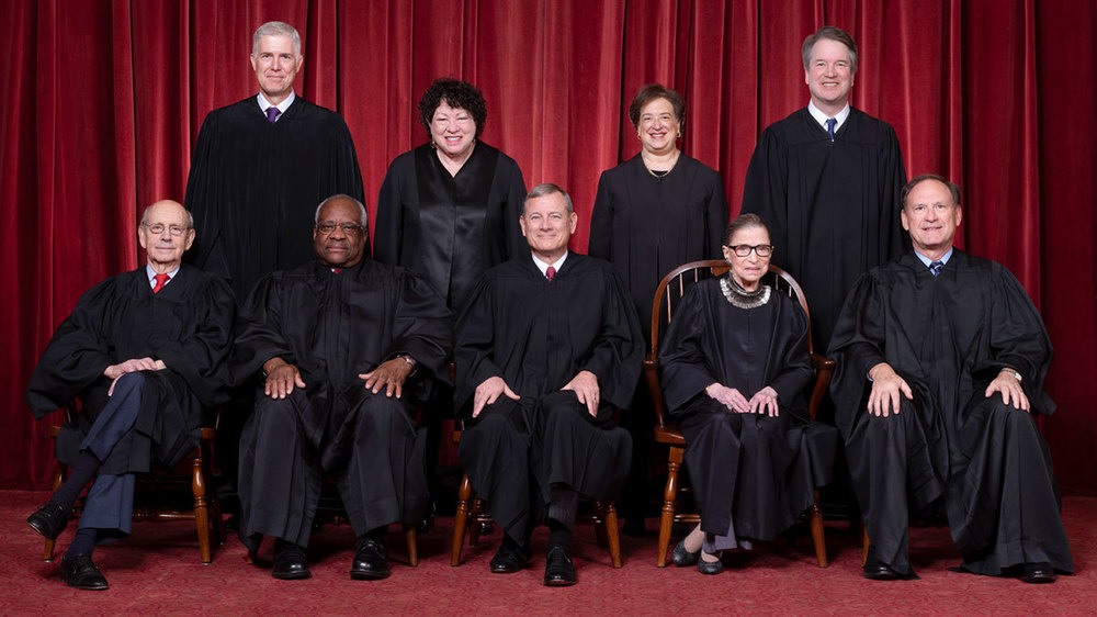 The Roberts Court, November 30, 2018. Photograph by Fred Schilling, Supreme Court Curator's Office.