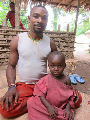 This BaYaka father (who gave consent for this photo) and son helped the research team learn more about testosterone and fatherhood.