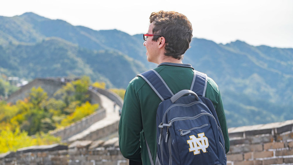 Great Wall of China. (Photo by Matt Cashore/University of Notre Dame)