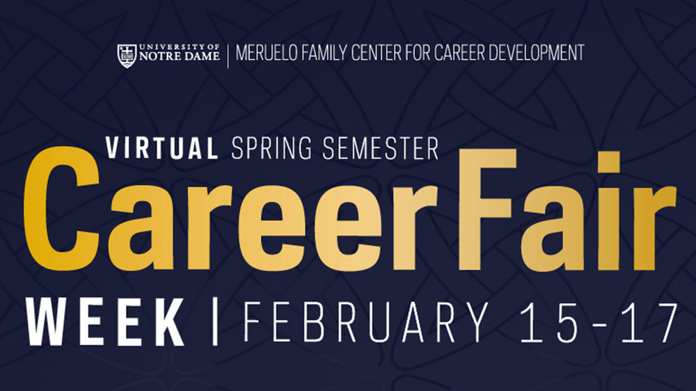 Virtual Spring Semester Career Fair Week 2021
