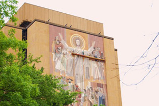 Word of Life mural undergoes preventive maintenance News Notre