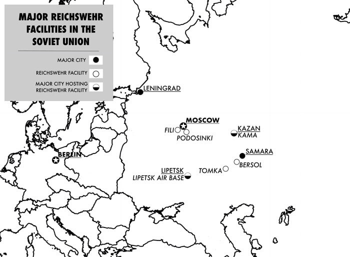 Major Reichswehr Facilities In The Soviet Union Crop 2
