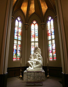 Pieta sculpture in the Basilica of the Sacred Heart