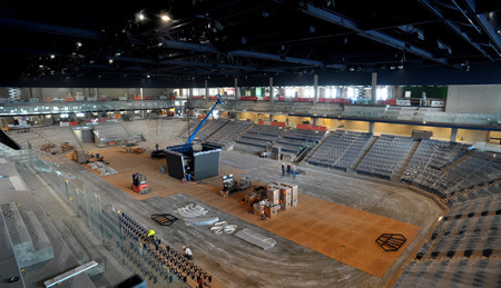 Construction on Notre Dame's new hockey arena continues