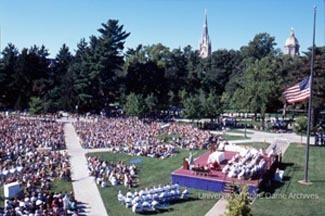 Mass on South Quad, Sept. 11, 2001