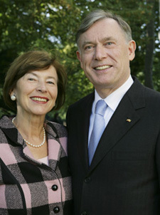 Dr. Horst Koehler, former president of the Federal Republic of Germany and his wife, Mrs. Eva Luise Koehler