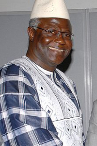 Ernest Bai Koroma, president of the Republic of Sierra Leone