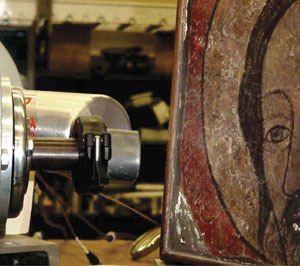 Accelerated ion beams used to reveal counterfeit art work
