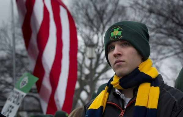 Notre Dame student at 2012 March for Life