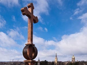 Cross on Notre Dame campus