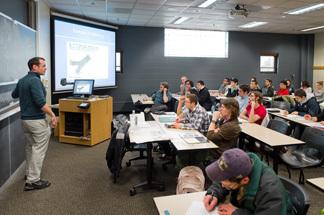 Engineering students in classroom