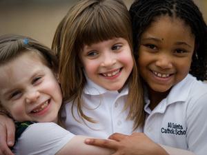 Students at All Saints Catholic School in Richmond, Va.