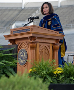 Haley Scott DeMaria delivers Commencement address