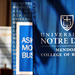 Mendoza blue banner reads: University of Notre Dame Mendoza College of Business.