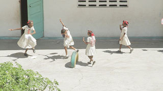 Haitian children dancing
