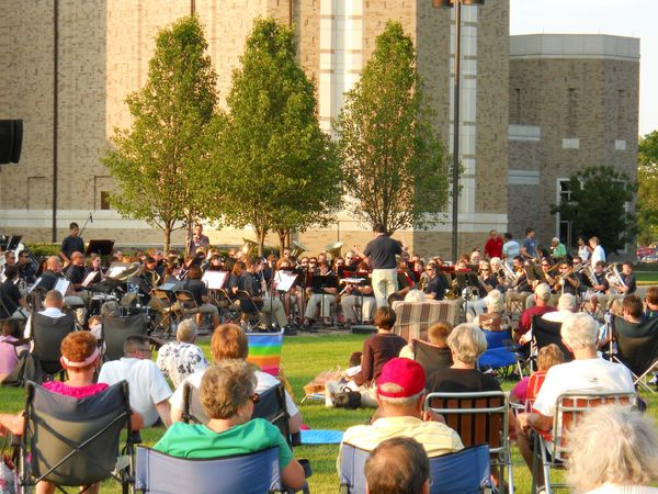The Notre Dame Summer Band wraps up its season with an outdoor concert on the Irish Green
