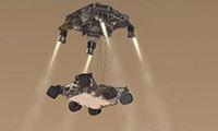 A depiction of NASA's Curiosity rover