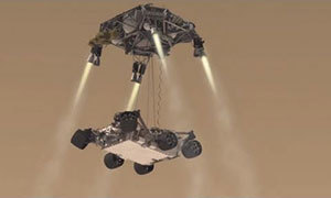 A depiction of NASA's Curiosity rover