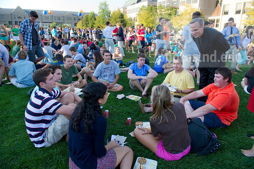The annual Opening Mass and Picnic always marks the start of classes with students, staff and faculty joining together to celebrate the start of the Fall semester