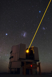 One of the four European Southern Observatory's Very Large Telescopes (VLT)