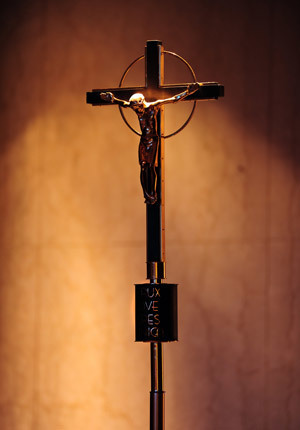 The crucifix in Moreau Seminary chapel