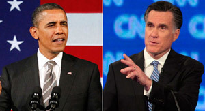 President Barack Obama and Governor Mitt Romney