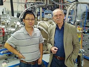 Xinyu Liu, left, and Jacek Furdyna