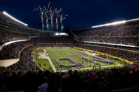 Fireworks over Soldier Field