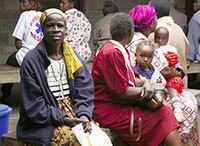 Women and children in Uganda