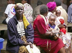 Women and children in Uganda