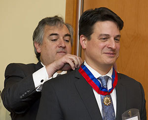 Paolo Carozza receives the Order of Merit of Bernardo O'Higgins