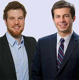 Alex Coccia and Pete Buttigieg
